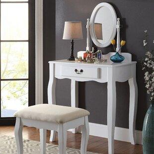 Canora Grey Alden Transitional Vanity Set with Mirror