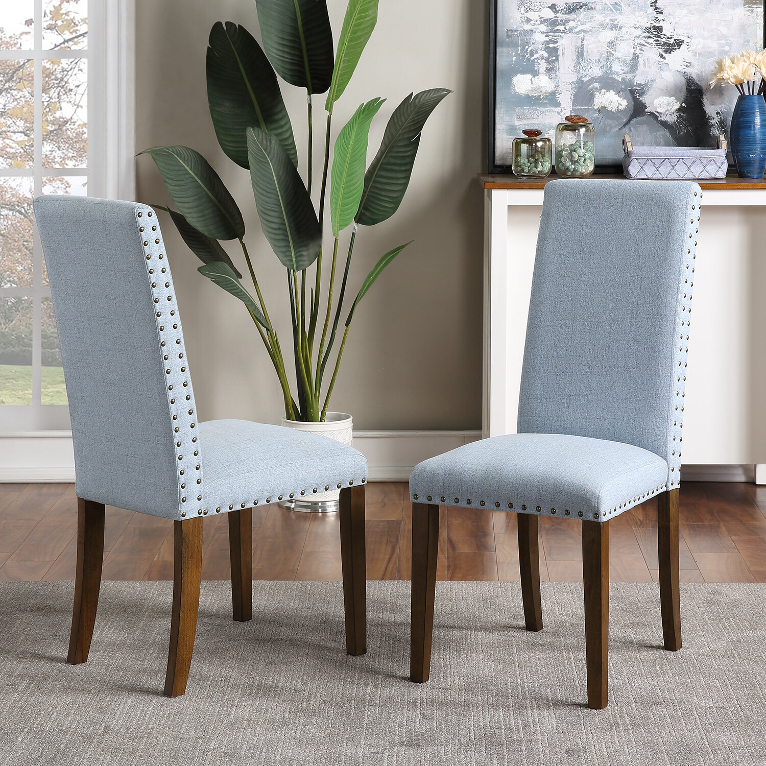 Schnappi Upholstered Parsons Chair In Blue Wayfair