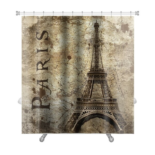 Gear New Skyline Vintage View Of Paris On The Grunge Premium Single Shower Curtain Reviews Wayfair