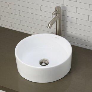 Affordable Classically Redefined Senna Ceramic Circular Vessel Bathroom Sink By DECOLAV
