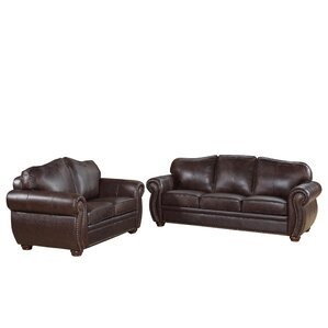 Morgenstern 2 Piece Leather Living Room Set ..