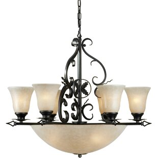 Big Save Botelho 10-Light Shaded Chandelier By Fleur De Lis Living
