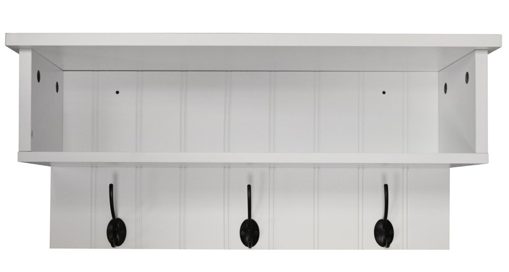 Castleton Home Wall Mounted Hall Rack With Storage And 3 Coat