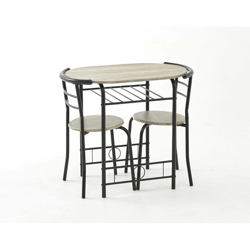17 Stories Win Dining Set with 2 Chair & Reviews | Wayfair ...