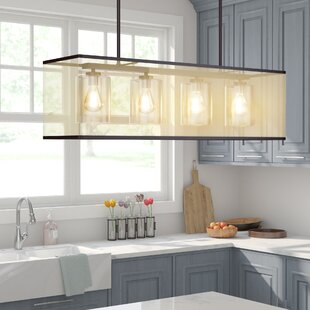 Gracie Oaks Marine 4-Light Kitchen Island Pendant
