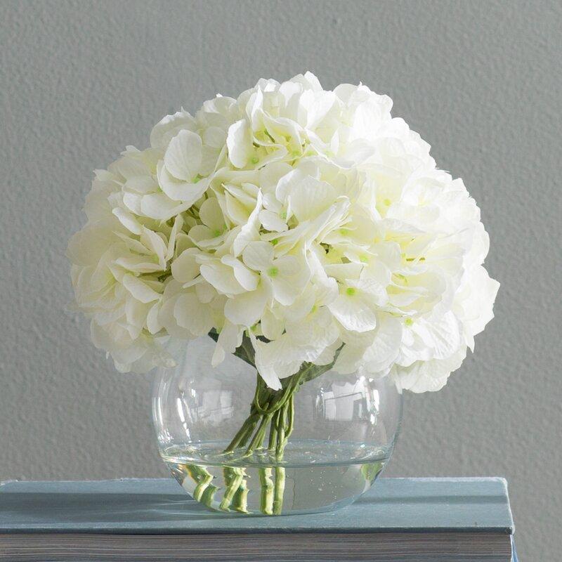 Beachcrest Home White Hydrangea Floral Arrangements