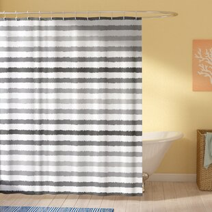 Stephane Gray and White Grunge Single Shower Curtain