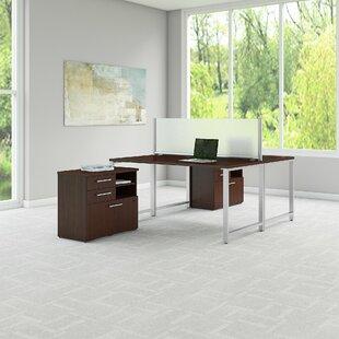Bush Business Furniture 400 Series 5 Piece Desk Office Suite