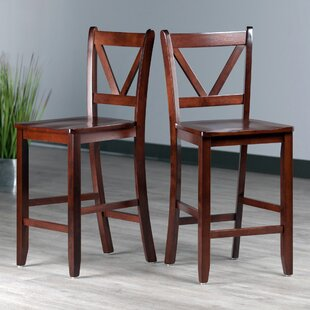 Solid Wood Bar  Counter Stool Set of 2