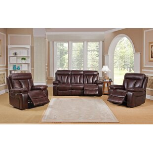 Lenny Reclining 3 Piece Living Room Set by