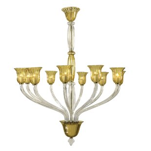 Cyan Design Vetrai 10-Light Shaded Chandelier
