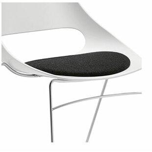 Echo Armless Stacking Chair white w/black vinyl seat cushion (Set of 4) Sandler Seating