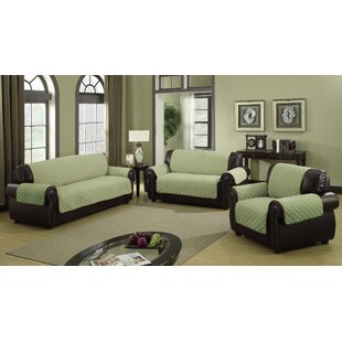 Charlton Home Furniture Protector Box Cushion Sofa Slipcover