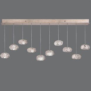 Natural Inspirations 10-Light Cluster Pendant by Fine Art Lamps