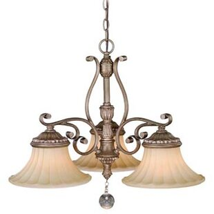 Vaxcel Avenant 3-Light Shaded Chandelier