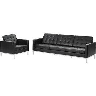 Compare & Buy Gayatri 2 Piece Leather Living Room Set by Orren Ellis Reviews (2019) & Buyer's Guide