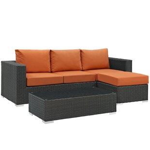 Tripp 3 Piece Sunbrella Sectional Set with Cushions