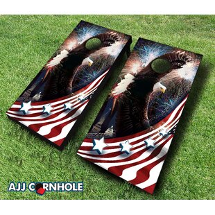 AJJ Cornhole Bald Eagle Cornhole Set