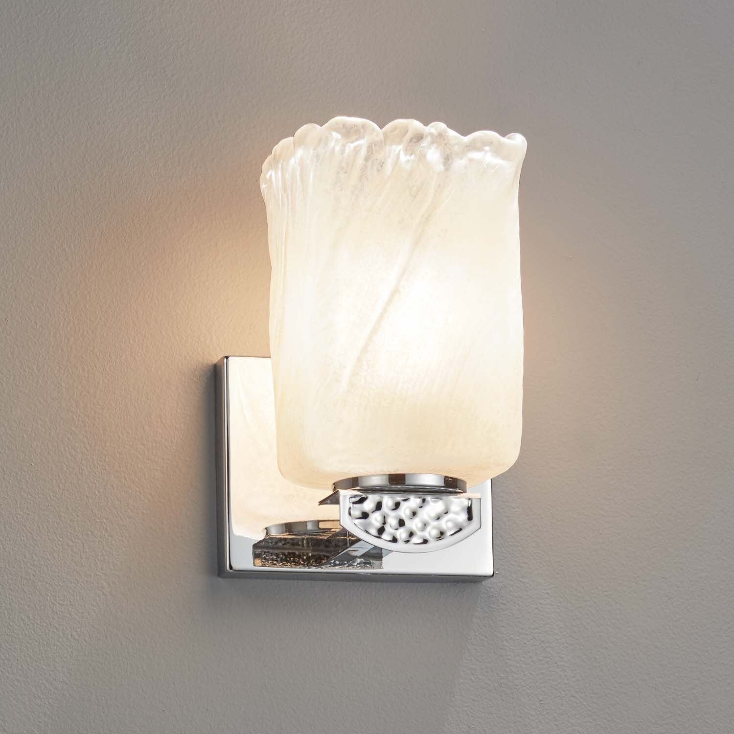 Brushed Nickel Gold Shade Wall Sconces You Ll Love In 2021 Wayfair