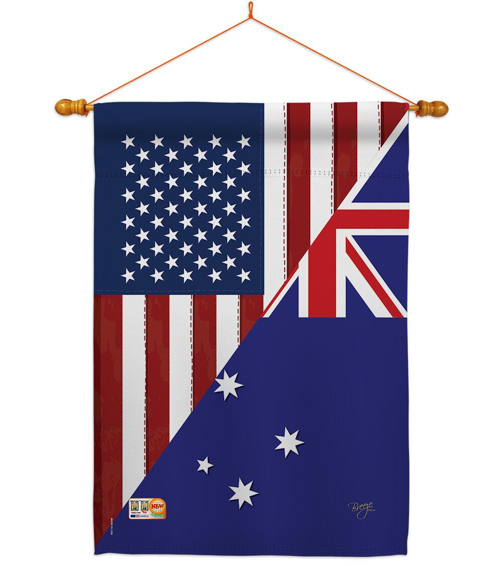 Breeze Decor Friendship Impressions Decorative 2 Sided Polyester 40 X 28 In Flag Set Wayfair