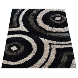 Compare Ogallala Shag Geometric Hand-Tufted Black/White Area Rug By Orren Ellis