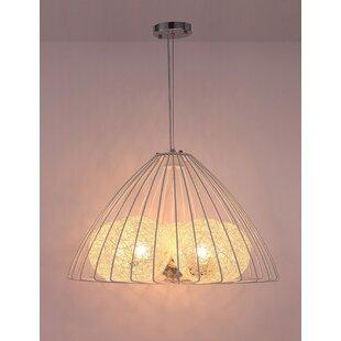 Tahani 3-Light Geometric Chandelier by Bungalow Rose