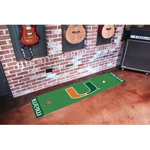 NCAA University of Miami Putting Green Doormat By FANMATS