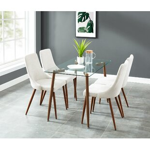 Carmela Contemporary 5 Piece Dining Set by Wrought Studio