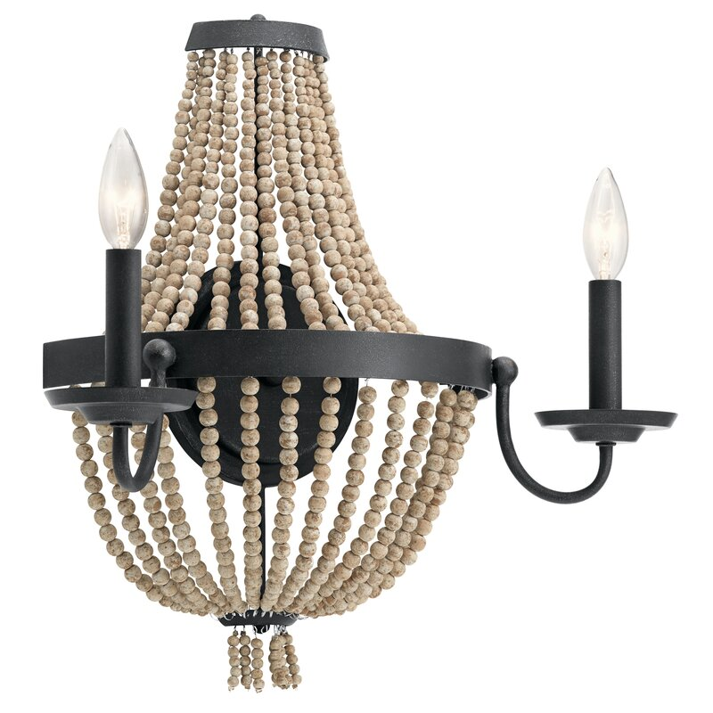 Capillaire 2-Light Candle Wall Light - a beautiful French country wall sconce option for your lighting needs and European inspired home.