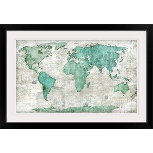Framed Maps Wall Art You Ll Love Wayfair