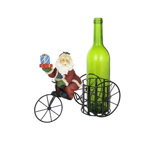 Santa Claus on Tricycle 1 Bottle Tabletop Wine Rack