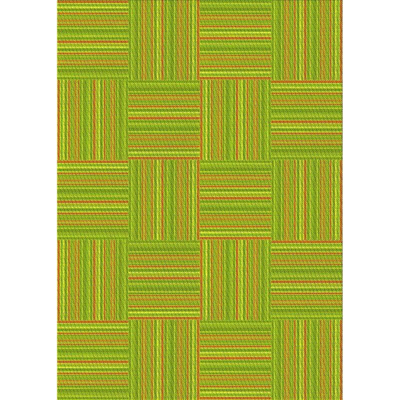 East Urban Home Corlane Abstract Wool Green Area Rug Wayfair