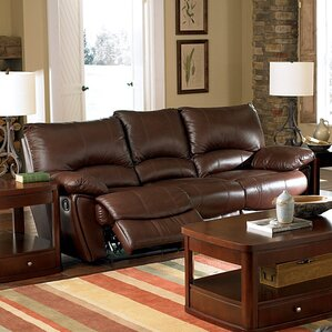 Red Bluff Bonded Leather Dual Reclining Sofa by Wildon Home ?