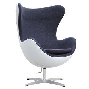 Fine Mod Imports Fiesta Swivel Lounge Chair