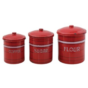 3 Piece Flour, Sugar & Coffee Set