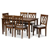 Chatwin Augustine 7 Piece Dining Set by Winston Porter