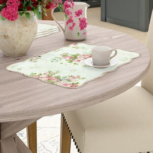 D'alouette Spring Rose Placemat (Set of 4)