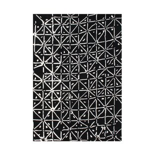 Wamic Hand-Tufted Black/White Area Rug By The Conestoga Trading Co.