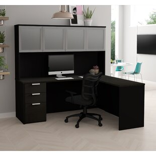Hartleton Contemporary Reversible L-Shape Corner Desk with Hutch by Latitude Run