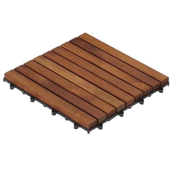Baredecor Ez Floor 12 X Teak Wood Snap In Deck Tiles Oiled Reviews Wayfair