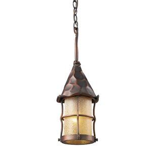 Affordable Rustica 1-Light Outdoor Hanging Lantern By Landmark Lighting