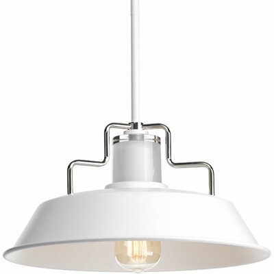 17 Stories Estevao 1 Light Inverted Pendant Finish White Size 75 H x 14 inch W x 14 inch D