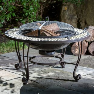 Shannon Steel Wood Burning Fire Pit Table