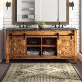 Estancia Barn Door 72 Double Bathroom Vanity Set by Millwood Pines