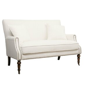 Jayden Nailhead Trim Settee by Beachcrest Home