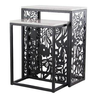 Ginn Eclectic Rectangular 2 Piece Nesting Tables Set