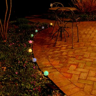 LumaBase Solar Color Changing 8 Light Globe String Lights