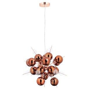 Copper chandeliers wayfair cassini 6 light sputnik chandelier aloadofball Gallery