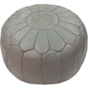 Cherise Pouf Leather Ottoman by Mistana