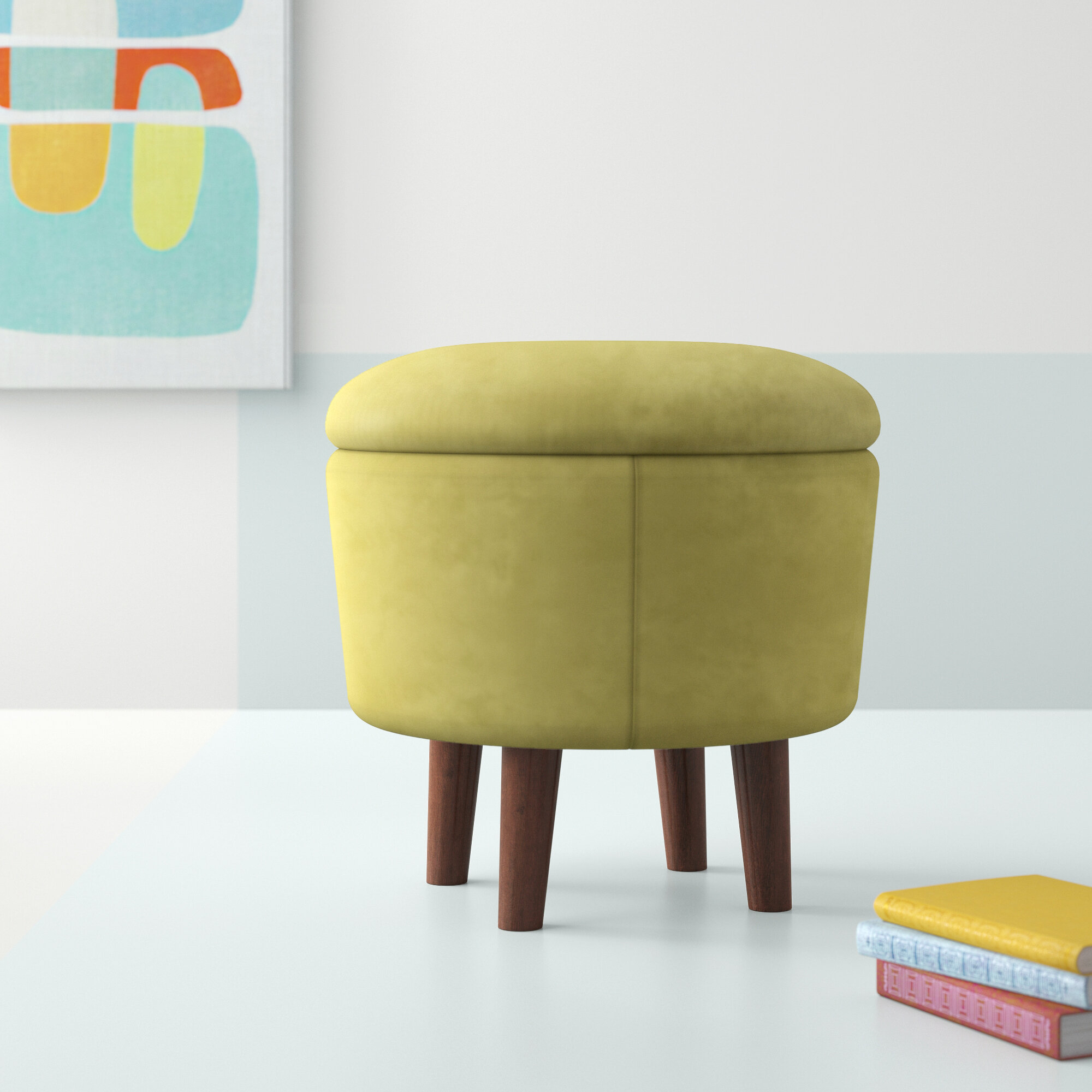 Brilliant Whitlow Modern Round Storage Ottoman Ncnpc Chair Design For Home Ncnpcorg